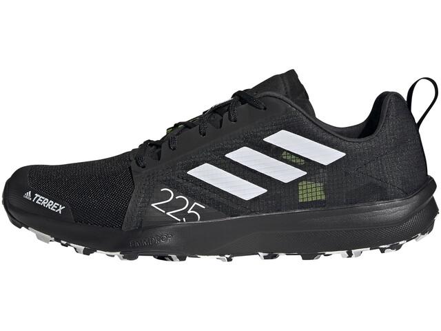 adidas TERREX Speed Flow Trail Running Shoes Men, core black/crystalwhite/solar yellow